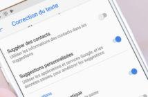 Désactiver l'écriture intuitive sur un smartphone Android