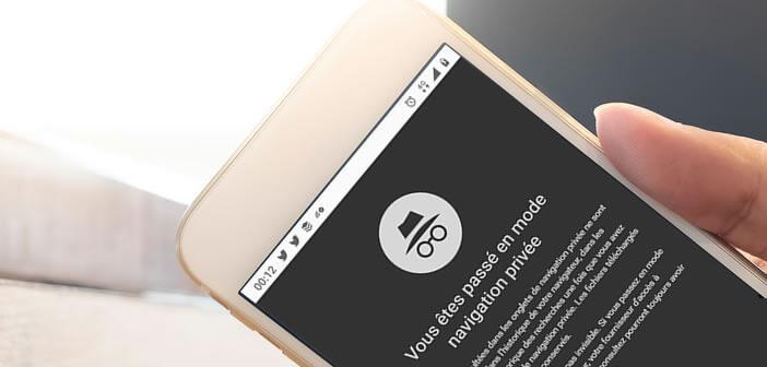 Lancer le mode de navigation privée sur le navigateur de votre mobile Android