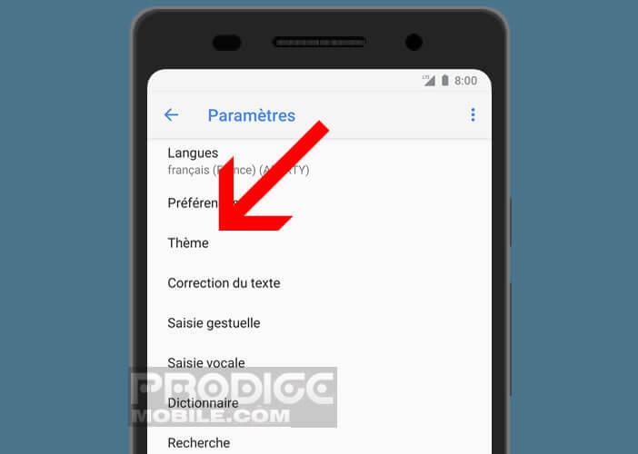 Modifier les paramètres de l'application Gboard de Google