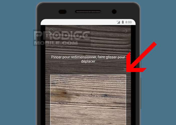 Redimensionner l'image de fond choisie pour le clavier de votre Android