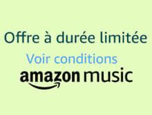 Offre de promo Amazon Music