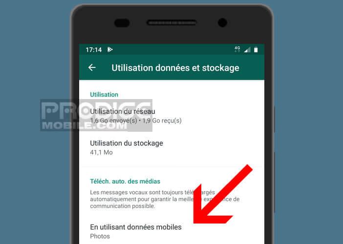 Sélectionner le type de fichiers multimédias à enregistrer sur son téléphone