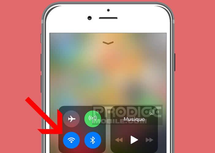 Connexion sans fils depuis le Centre de contrôle de l'iPhone