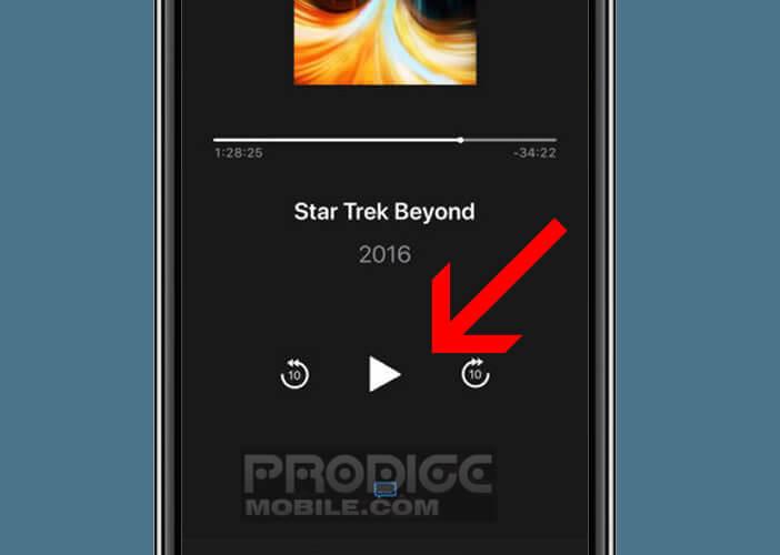 Contrôler les fichiers multimédias lancés depuis l'Apple TV