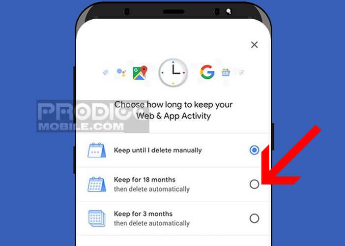 Ajuster le délai de suppression de l'historique des services Google