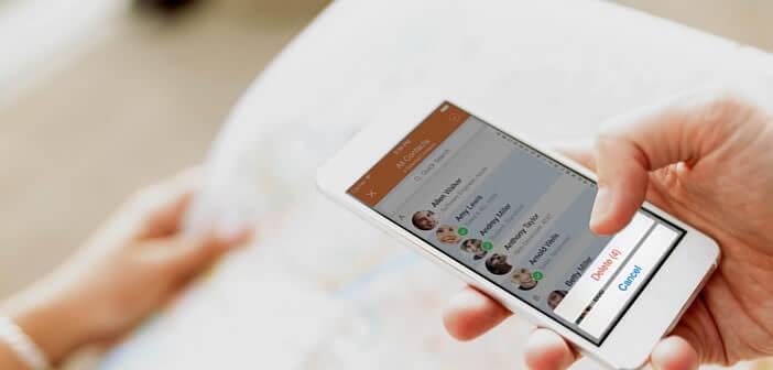 Faire le ménage dans le carnet d'adresses de l'iPhone en supprimant plusieurs contacts