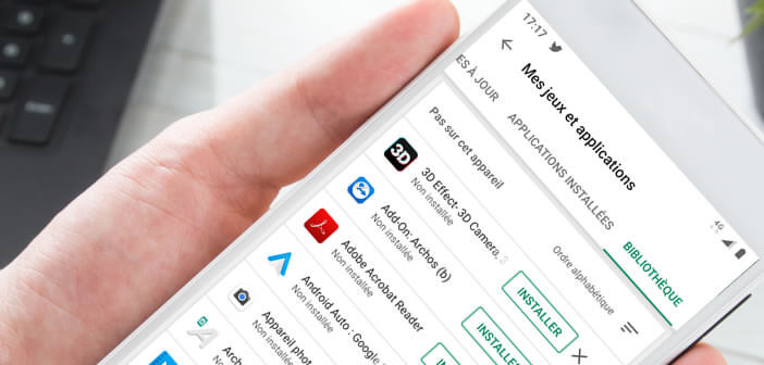Réinstaller des applis supprimées par erreur via l'historique du Play Store