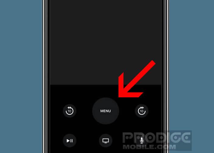 Simuler le pavé tactile de votre télécommande directement sur l'écran de votre iPhone
