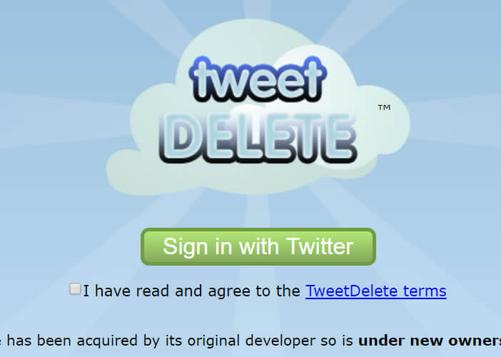 TweetDelete est un service de suppression de message