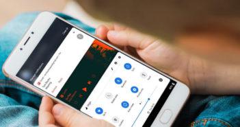 Réglages rapides en bas de l'écran de votre mobile