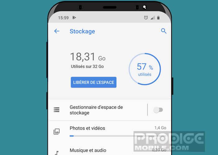 Gérer le stockage de votre smartphone directement depuis les paramètres Android