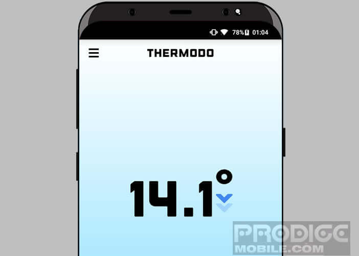 Afficher la température ambiante sur l'écran de votre mobile