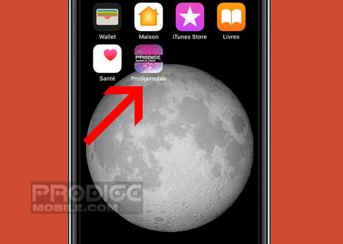 Modifier l'emplacement de l'icône permettant d'accéder à une page web