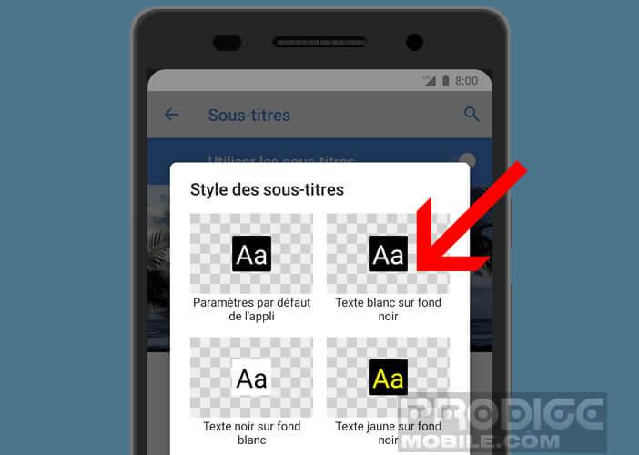 Changer la couleur et le style du texte affiché dans YouTube