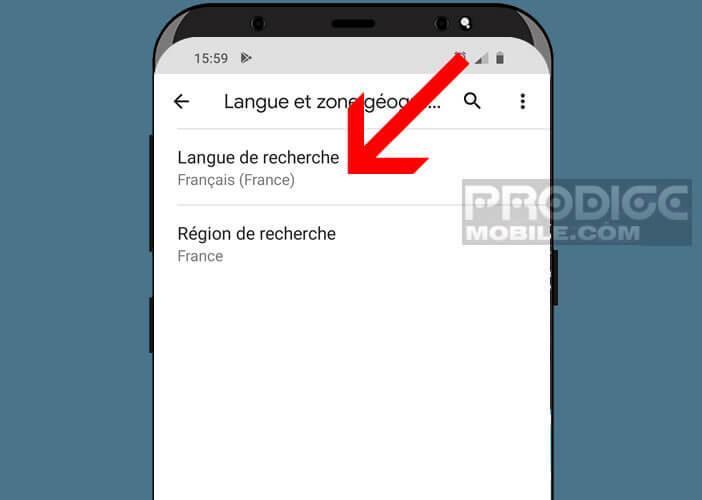 Changer la langue utilisée pour la détection de la commande Ok Google