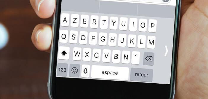 Activer le clavier une main de l'iPhone sur iOS