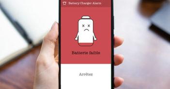 Sonnerie vous avertit dès que la batterie de votre smartphone s'épuise