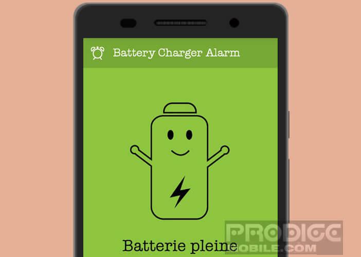 Créer une alerte pour être informé lorsque le rechargement la batterie de votre mobile est terminé