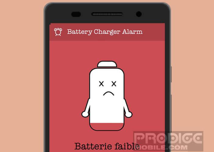 Surveiller la charge de votre batterie avec l'application Battery Alarm Charger