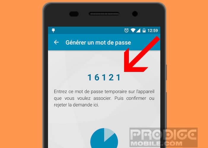 Connecter vos deux smartphones à l'aide d'un mot de passe par internet