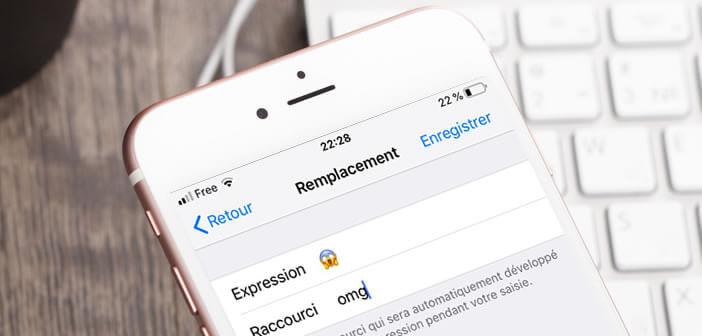 Insérer un emoji depuis un raccourci clavier d'un iPhone