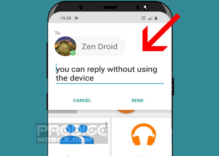 Répondez à vos messages et SMS sans toucher l'écran de votre smartphone