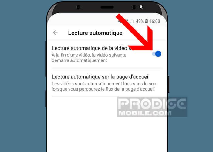 Désactiver la lecture automatique de vidéos