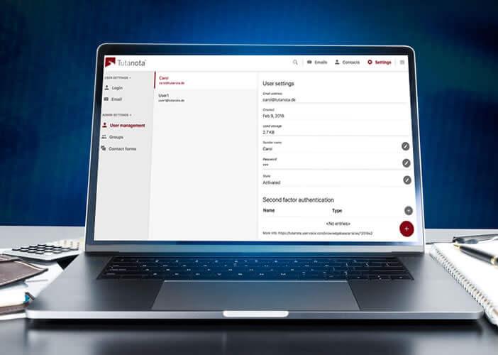 Client webmail Tutanota pour la gestion de mails sécurisés