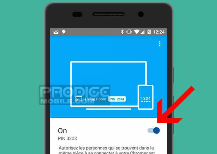 Activer le mode invité depuis l'application Google Home