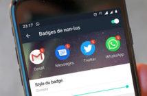 Afficher le nombre de notifications non lues sur les badges d'applis
