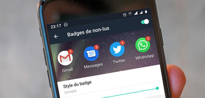 Activer l'affichage des chiffres sur les badges de notifications