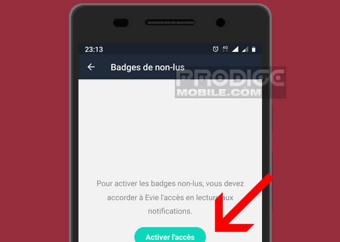 Autoriser application Evie Launcher à accéder aux paramètres Android