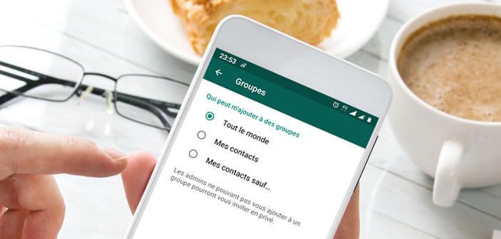 Bloquer les ajouts automatiques aux groupes de discussions WhatsApp