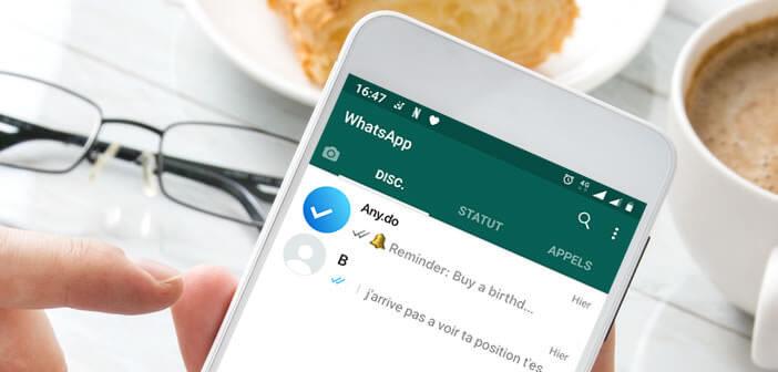 Ajouter des taches et des rappels dans l'application WhatsApp