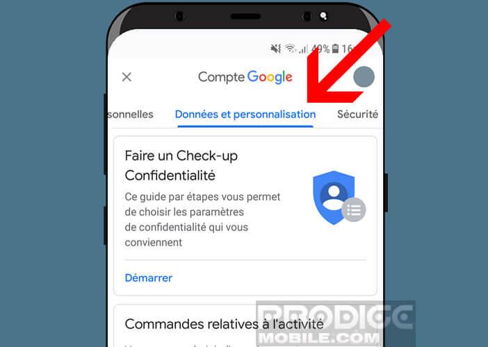 Accès aux données et personnalisation de votre compte Gmail
