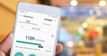Enregistrer les calories consommées lors de vos repas sur un smartphone Android