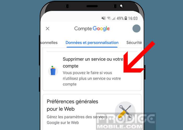 Supprimer l'adresse Gmail que vous n'utilisez plus