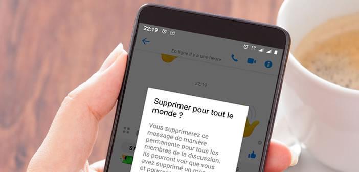 Supprimer un message envoyé par erreur sur Facebook Messenger