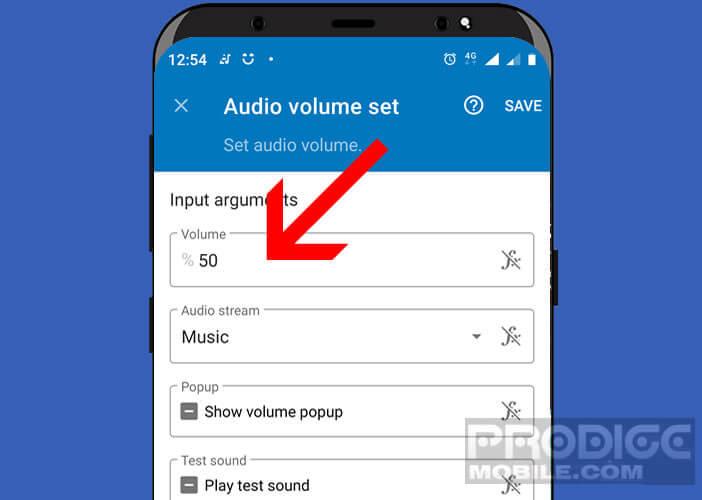 Régler automatiquement le volume lorsque le casque est branché au smartphone