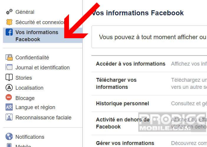 Modifier les paramètres de confidentialité du réseau social Facebook