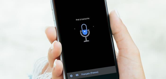 Retranscrire une discussion en texte sur un smartphone en temps réel