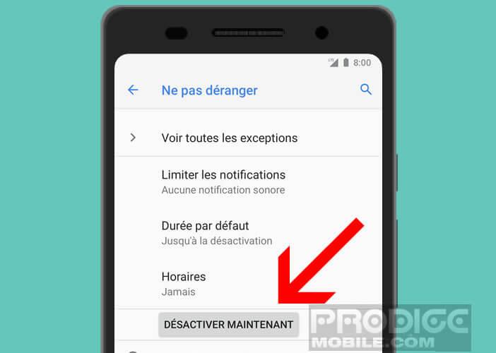 Désactiver le mode sourdine de votre smartphone