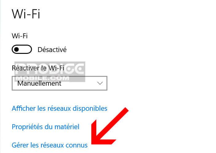 Configurer manuellement une connexion sans fil sur un PC
