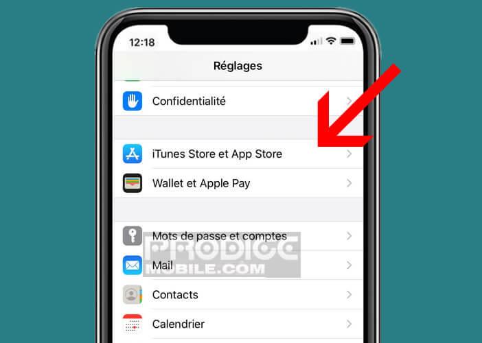 Modifier les paramètres d'utilisation de la boutique App Store