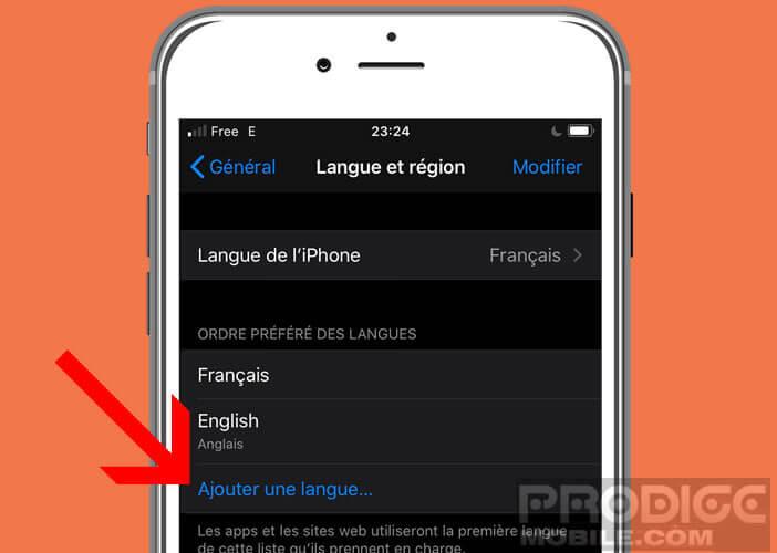 Définir plusieurs langues alternatives pour vos applications et leur ordre de préférence