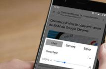 Activer le mode lecture sur Chrome pour Android