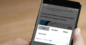 Améliorer le confort de lecture des pages web avec le mode de vue simplifiée