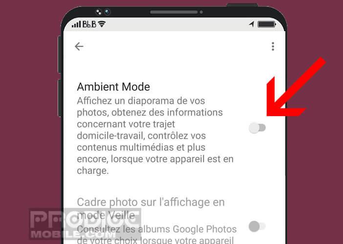 Activer le mode de personnalisation de l'écran de verrouillage de votre smartphone