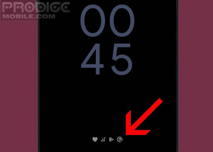Afficher l'heure sur l'écran de verrouillage du mode Ambient
