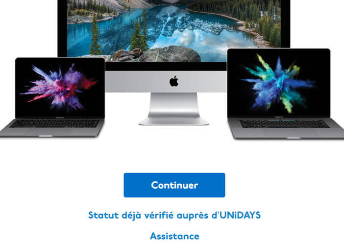 Création d'un compte Unidays pour profiter des réductions étudiantes sur le site Apple